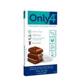Chocolate flor de sal com açúcar de coco 80g - Only4