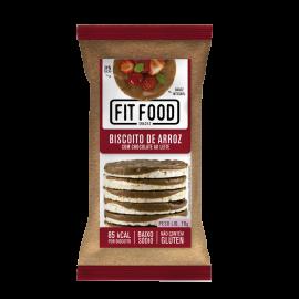 Biscoito de arroz com chocolate ao leite 70g - FitFood