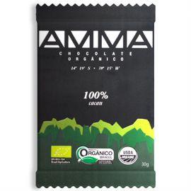 TABLETE CHOCOLATE 100% CACAU 30g - AMMA
