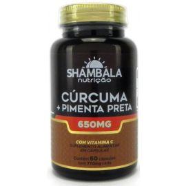 Cúrcuma + pimenta preta e vitamina C 60 cápsulas - Shambala