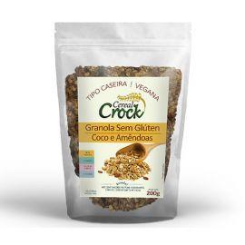 Granola com coco e amêndoas Sem glúten 200g - Leve Crock