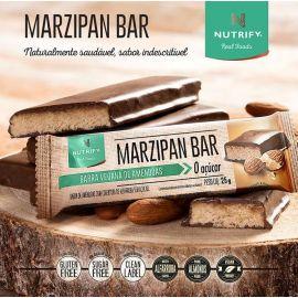 Barra Vegana de amêndoas Marzipan zero açúcar 25g - Nutrify