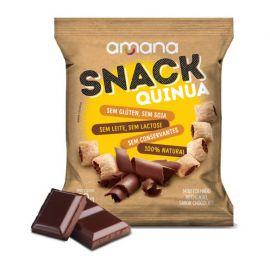 Amana · Snack de quinoa sabor chocolate - sem glúten/lactose, vegano