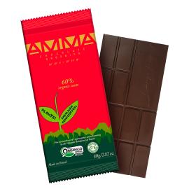 Chocolate orgânico 60% cacau 80g - AMMA